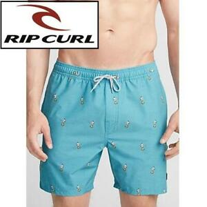 NEW RIP CURL BOARD SHORTS MENS XL CBO3D7 251471882 HULA VOLLEY TRI-FLEX 18 OUTSEAM BLUE