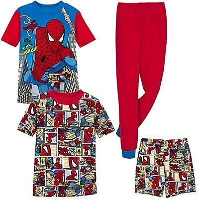 NWT Disney Store MARVEL Spider-Man Sleep Set Superhero Pajama Set PJ Boys 4 6 8