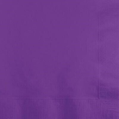 PURPLE AMETHYST (50) LUNCH DINNER PAPER NAPKINS Party Supplies!! For Any Party! (Dinner Napkins Paper)