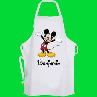 Mickey Mouse Personalised Toddler Cooking Apron Pre-School -