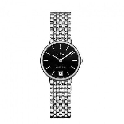 Edox Women's Watch 26016 3P NIN Silver Round Dial, Swiss Made RRP $1150