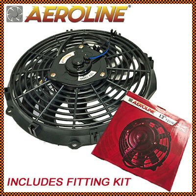 12 Aeroline 120w Electric Engine Radiator Intercooler 12v Slimline Cooling Fan