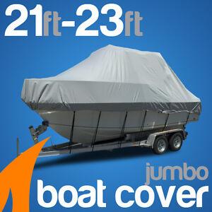 Heavy-Duty 21ft-23ft / 6.4m-7.0m Trailerable Jumbo Boat Cover