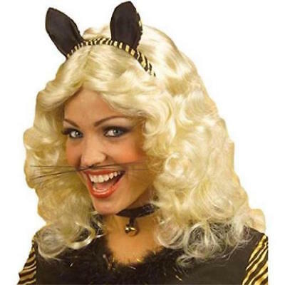 ** BLACK WHISKERS FOR CAT MOUSE TIGER FANCY DRESS ANIMAL NEW * KIDS LADIES MENS