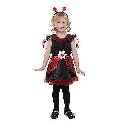 Kostüm~Marienkäfer~USA~104-110-116~Karneval~Fasching~Mädchen~Kleid~rot~Lady bug