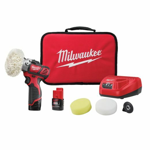 Milwaukee 2438-22 M12 Spot Polisher / Sander Kit with 2 Compact Batteries