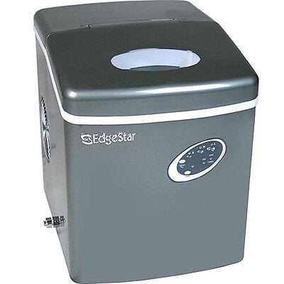 Portable Countertop Ice Machine - Edgestar Compact Cube Maker W Titanium Finish