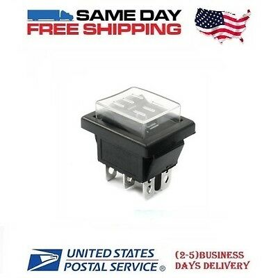Waterproof Dpdt Double Pole Double Throw 6-pin On-off-on 20amp Rocker Switch