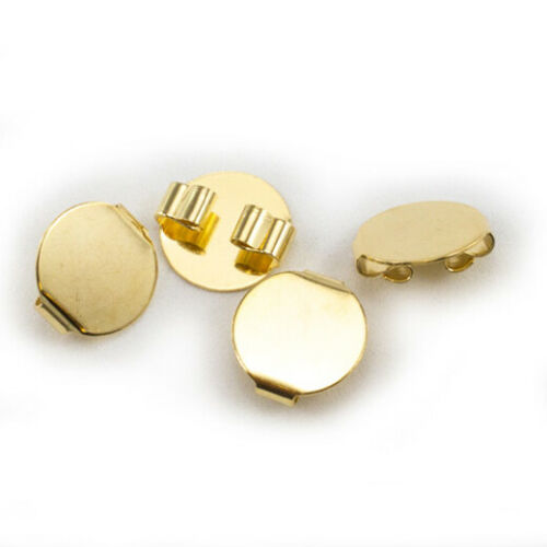 """Round Bolo Slide Base - 5/8"""" wide - Gold or Silver - 12pc"""