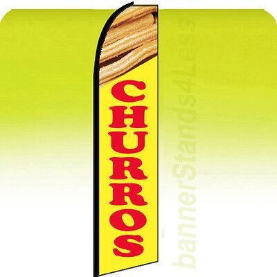 Churros - Custom Swooper Flag Feather Flutter Banner Sign Tall 11.5 - Yb