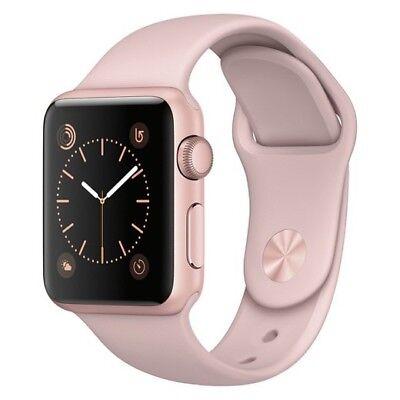 Brand New : Apple® Watch Series 1 38mm Rose Gold Aluminum Case - Pink Sport Band