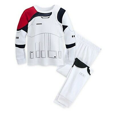 NWT Disney Store Star Wars Stormtrooper Costume PJ Pals Deluxe Sleep Set Boys (Stormtrooper Costume Boys)