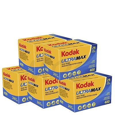 5 Rolls Kodak UltraMax Gold 400 135-24 Color Negative Print Film FRESH DATED