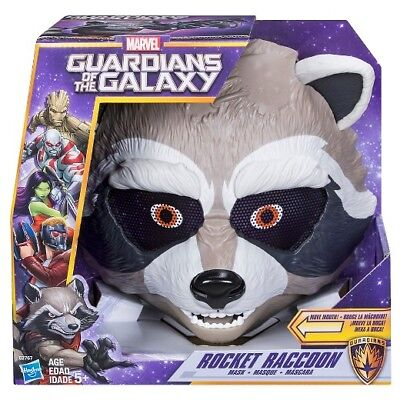 NEW Hasbro Marvel Guardians of the Galaxy Rocket Raccoon Kid's Moving Toy Mask (Raccoon Mask)