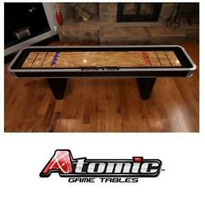 NEW ATOMIC PLATINUM 9' SHUFFLEBOARD - 128559182 - POLY COATED SURFACE TOP ABACUS SCORING SHUFFLEBOARDS GAME GAMES TAB...