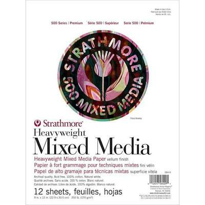 "Strathmore 500 Series Heavyweight Mixed Media Pad 9""x12"" - 12 Sheets"