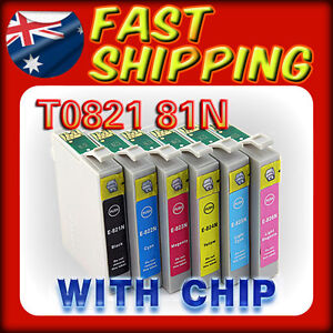 12x Ink  81N 82N for Epson Stylus Photo R390 RX610 TX650 T59 TX700W Cartridges