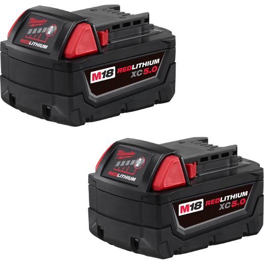Milwaukee 48-11-1852 M18™ REDLITHIUM™ XC5.0 Extended Capacity Battery 2-Pack 1