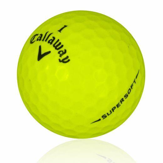 120 Callaway Supersoft Yellow Near Mint Used Golf Balls AAAA *SALE!*