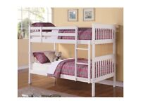 SINGLE White Wooden Bunk Bed Can be Converted into 2 Single Beds WOODEN COLOUR ALSO AVAILABLE £149
