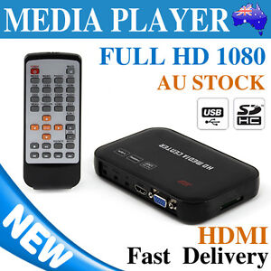 Full 1080P HDMI Media Player Wireless HDD SD MKV For 2TB External Hard Drive USB