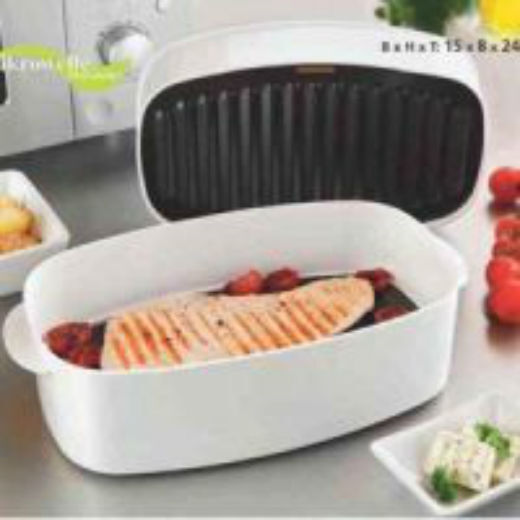 Microwave Grill Pan - Cook meat, veggies , fish Fast & Easy