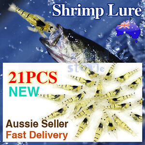 Soft Plastic Prawn Shrimp Fishing Lures 55mm for BREAM FLATHEAD SNAPPER *21pcs*