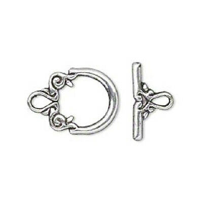 8853FX Toggle Clasp Antiqued Silver plated