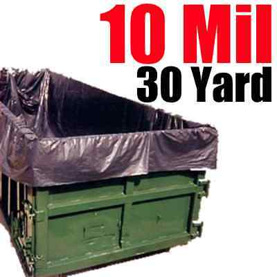 10 Mil 30 Yard Roll Off Dumpster Liner