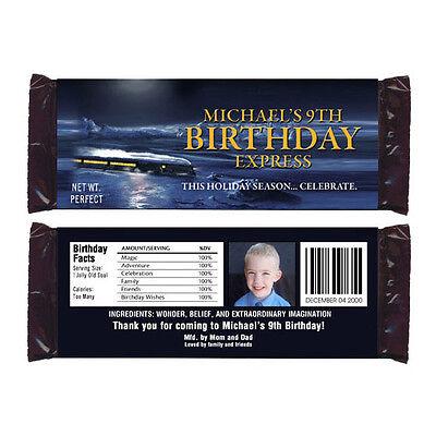 12 The Polar Express Movie Birthday Party Favors Personalized Candy Wrappers - Polar Express Party Supplies