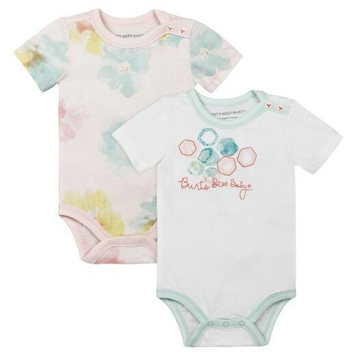 Burt's Bees Baby Girl 2 Piece Bodysuit Set ~ Morning Glory ~