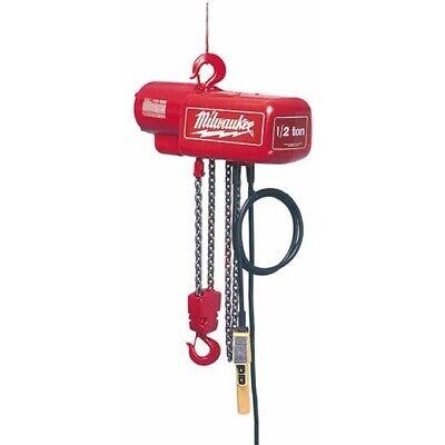 Milwaukee 9567 1 Ton Electric Chain Hoist - 15 Ft. Seller Refurbished