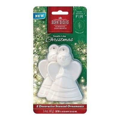 2 Pk Scentsicles Angel Scented Ornaments,White Winter Fir, Smells Like Christmas
