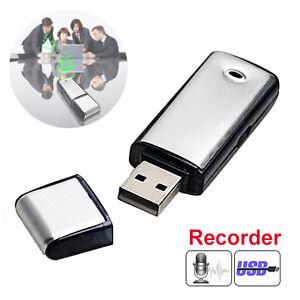 OZ Hot Flash Drive 8GB USB Disk Voice Spy Recorder Memory Key Dictation