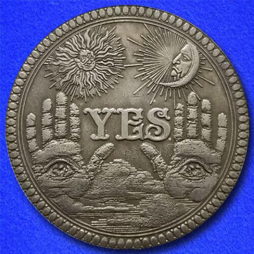 "YES or NO ""Hobo Nickel"" on Morgan Dollar Coin **"