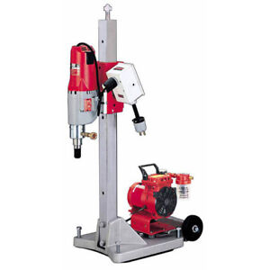 Milwaukee Coring Rig complete with Vacuum and 5 psc Dimond Bits