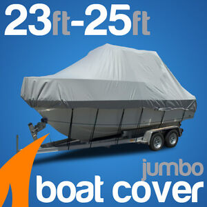 Heavy-Duty 23ft-25ft / 7.0m-7.6m Trailerable Jumbo Boat Cover