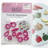 Fruit & Vegetable Cutter Set - 10pc - Cake Decorating Sugarcraft