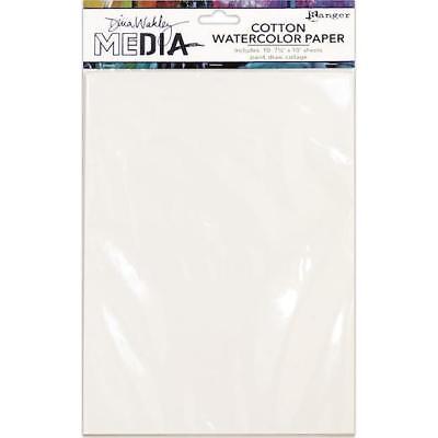 "Dina Wakley Media Cotton Watercolour Paper Pack 7pcs 7.5""x10"" MDJ59646"