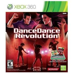 NEW XBOX 360 DANCE DANCE REVOLUTION 221384829 XBOX 360 DDR GAME AND DANCE MAT BUNDLE MICROSOFT VIDEO GAME