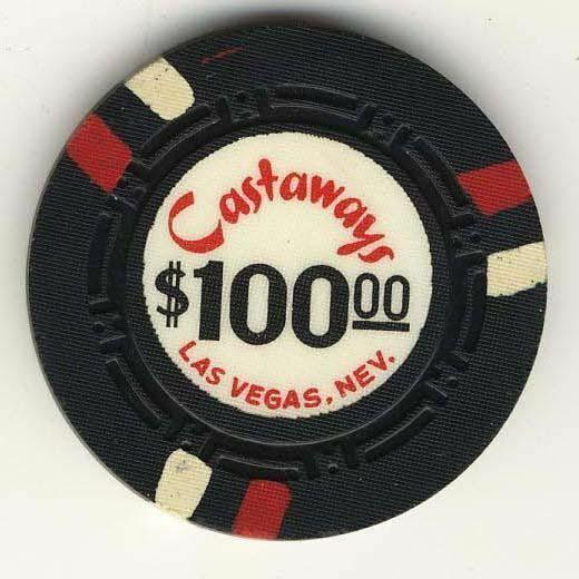 Castaways Casino Las Vegas NV $100 Chip 1963