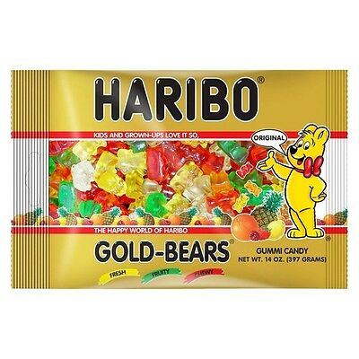 NEW SEALED HARIBO GOLD BEARS GUMMI CANDY 14 OZ BAG FREE WORLDWIDE SHIPPING](Haribo Gummi Bears)