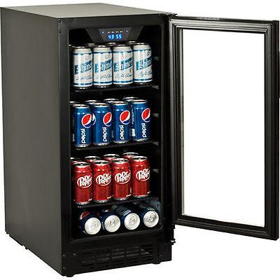 Built-In Undercounter Glass Door Refrigerator - Slim Beverage Cooler Mini Fridge