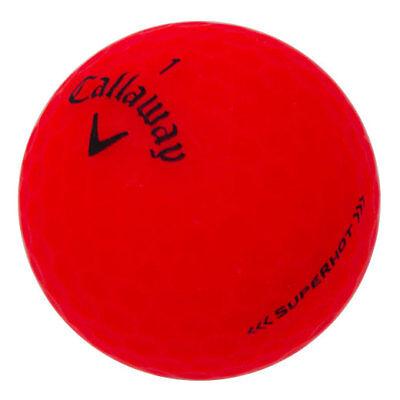 Red Balls (12 Callaway Superhot Matte Red Mint Used Golf Balls)