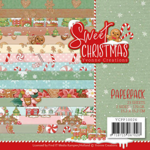 Paper-pad Papier-block Sweet Christmas Weihnacht Xmas Yvonne Creations YCPP10026