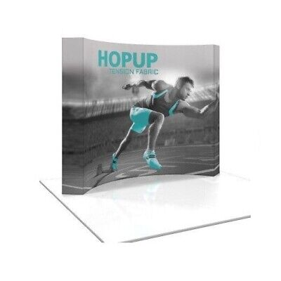 Hopup 10ft Tension Fabric Trade Show Display - Curved