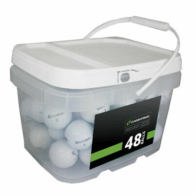 48 TaylorMade TP5x Golf Balls *No Markings or Logos**In a Free Bucket!*