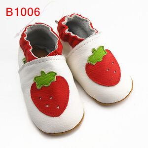 SAYOYO REAL LEATHER SOFT SOLE BOY GIRL CRIB BABY TODDLER SHOES US SIZE 0-24 MTHS