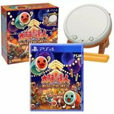 "Drum Master ""Taiko No Tatsujin""  on PS4  a Set of  Software + Drum + Sticks!"