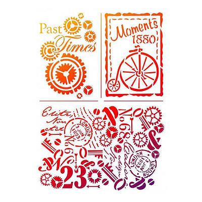 Viva Decor Universal Stencil A4 - Past Times #703